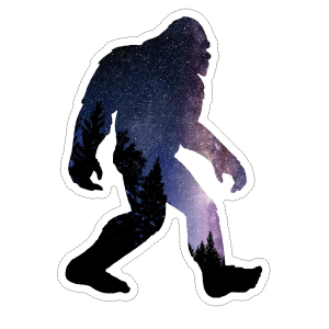 Big foot with stars decal