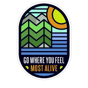 Go where you feel decal