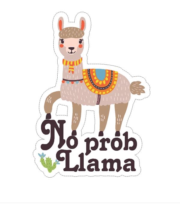 No Prob Llama decal
