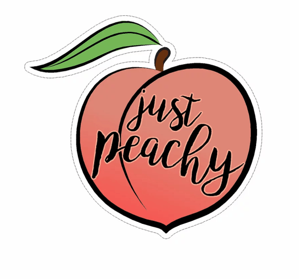 Just Peachy decal