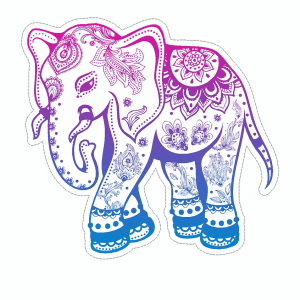 Elephant decal