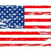 Worn USA Flag Decal