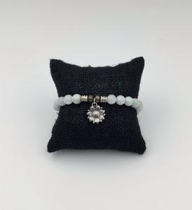 tjazelleAquamarine Stone Bracelet with Sunflower