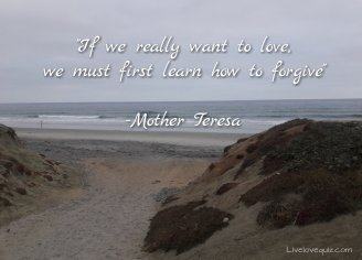 """""""If we really want to love, we must first learn how to forgive"""" - Mother Teresa"""