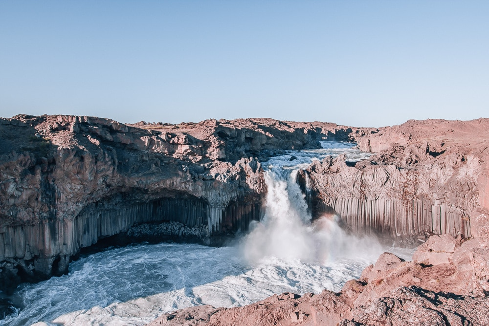 Aldeyjarfoss waterfall in Iceland. Check out our perfect 6 day itinerary for Ring Road in Iceland!