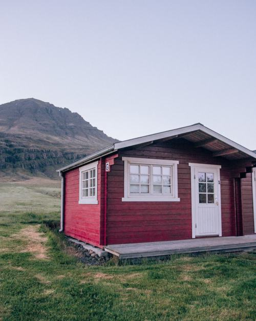 A cabin at Berunes HI Hostel in Iceland. Find the best hotels and stops for your Iceland road trip with this 6 day Iceland itinerary.