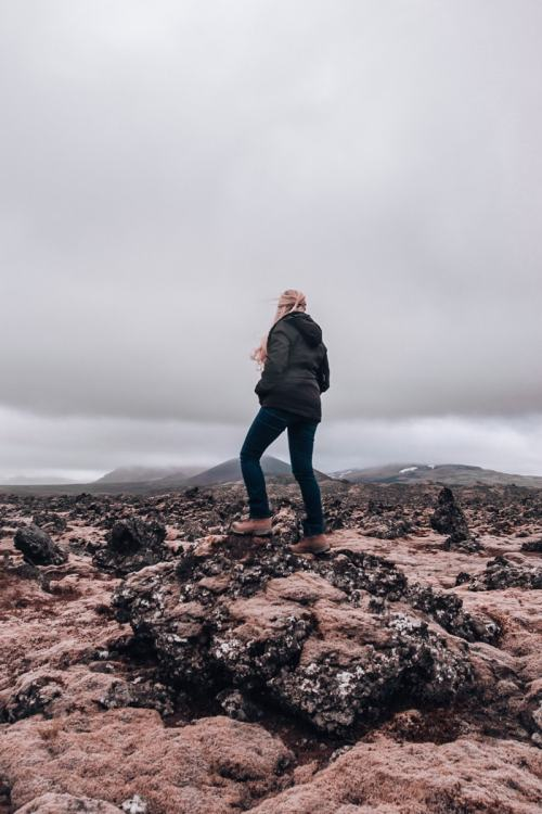 Lava fields on Snaefellsnes Peninsula in Iceland. Check out our perfect 6 day itinerary for Ring Road in Iceland!