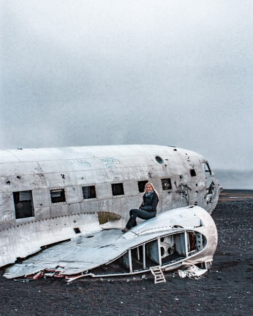 Solheimasandur DC-3 Plane Wreck in Iceland. Click here for a full Iceland 6 day itinerary with a free map.
