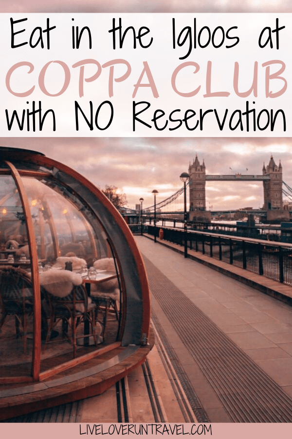 The Coppa Club igloos in London by the Tower Bridge are a popular place to eat. Find out how much it costs and how to eat there with or without a reservation. Coppa Club London | Coppa Club igloos | London igloos | Tower Bridge igloos | Coppa Club London igloos | London restaurants | things to do in London | London things to do in | best restaurant in London | visiting London | London bridge | best food in London | London vacation | Surf shacks London | London travel tips