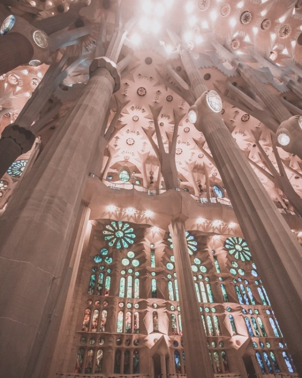 Sagrada Familia in Barcelona is a must. Make sure to get tickets early and try to go at sunrise and sunset for the best lighting inside. See the perfect itinerary for 3 days in Barcelona here!