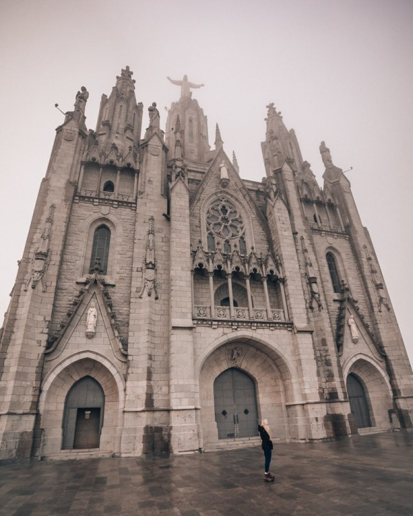 The Temple of the Sacred Heart of Jesus in Barcelona on Mount Tibidabo. Find all the best photo spots in Barcelona in this 3 day itinerary