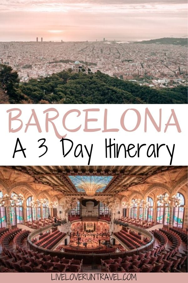 The perfect 3 day Barcelona itinerary including all the best Instagram photo spots in Barcelona. #barcelona #europe | Barcelona Instagram photo spots | things to do in Barcelona Spain | Barcelona 3 day itinerary | Barcelona things to do | 3 days in Barcelona | Park Guell Barcelona | Barcelona in 3 days | weekend in Barcelona | Barcelona Spain travel | Barcelona in fall | Barcelona in winter | Gaudi Barcelona | Barcelona Spain hotels | Barcelona itinerary | Barcelona things to do in
