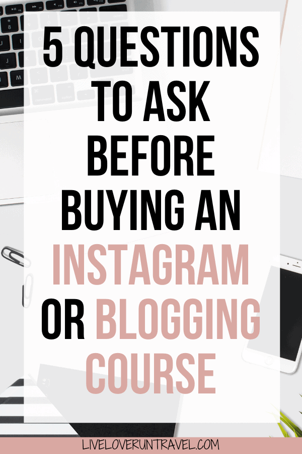 Thinking about taking an Instagram class or a blogging class? Make sure to ask these questions first! #blogger #influencer #instagram #blogtips | how to grow your blog | how to grow your Instagram | influencer Instagram | how to be an influencer | Instagram influencer tips | how to become a travel blogger | how to be a travel influencer | how to work with brands | brand collaborations | Instagram course social media | blogging courses | grow instagram followers | grow Instagram following