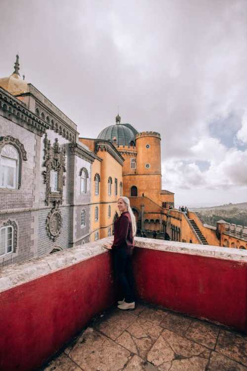 If you only have one day in Sintra, go to Pena Palace where you find this colorful palace.