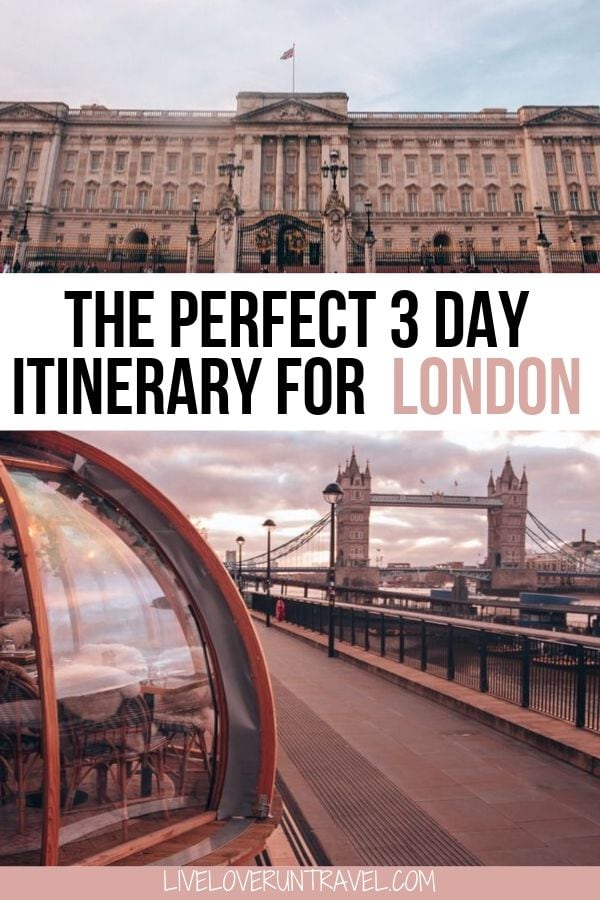 The perfect London 3 day itinerary including all the most Instagrammable places in London. #london #europe | London travel | London England winter | things to do in London | London in winter | 3 day London itinerary | London in 3 days | weekend in London | London weekend itinerary | travel London | winter in London | London attractions | London in December | Christmas London | Europe winter travel | lovely London | London England things to do in | London itinerary 3 days | London photo spots