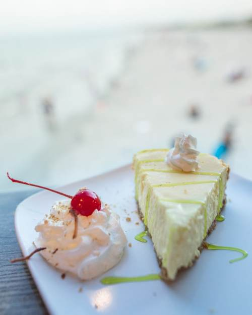 Key Lime Pie at Pelican's Bar and Grille on Westgate Cocoa Beach Pier - find Cocoa Beach restaurant reviews here.