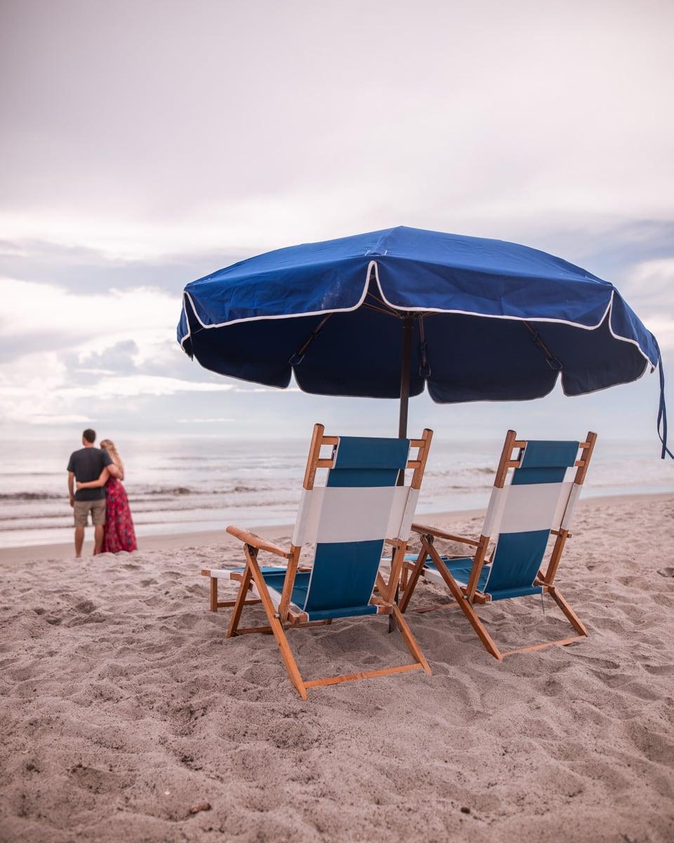 在海滩海滩海滩海滩海滩海滩海滩,海滩上的雪松和海斯汀斯·卡维尤在海岸上。