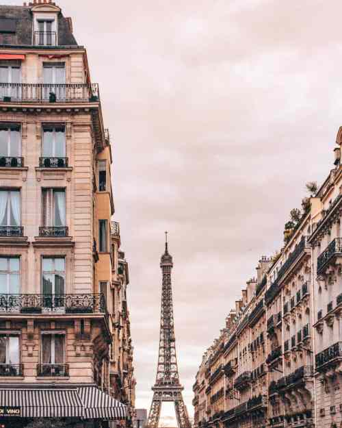The Eiffel Tower from Place de Mexico in Paris. Find the best Eiffel Tower photo spots and a guide to New Year's in Paris here.