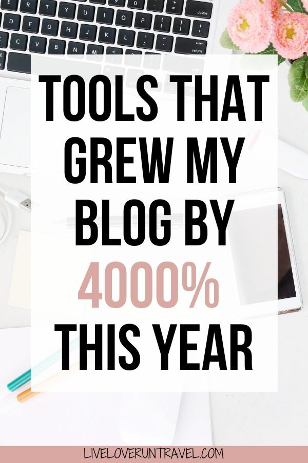 The 9 blogging tools every blogger needs. These blogging tools helped me grow my blog by 4000% in one year. #blogging #bloggingtips #blogtools #blogtips #bloggingtools | blogging tips | best blogging tools | best blog tools | free blog tools | beginner blogging tips | blogging tips for beginners | travel blog | blogging 101 | how to blog | tips for blogging | best blogging tips | grow blog traffic | how to grow a blog | tools and resources for blogging | blog tutorials | how to start a blog