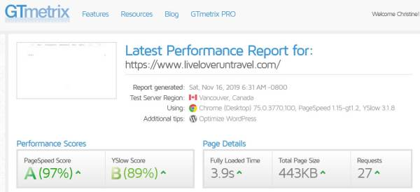 Speed optimization for blog results