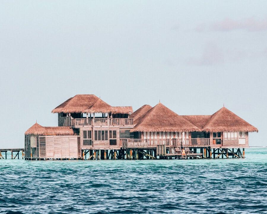 Luxury over water villa in the Maldives