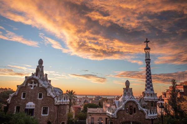 The best place to watch sunrise in Barcelona is Park Guell