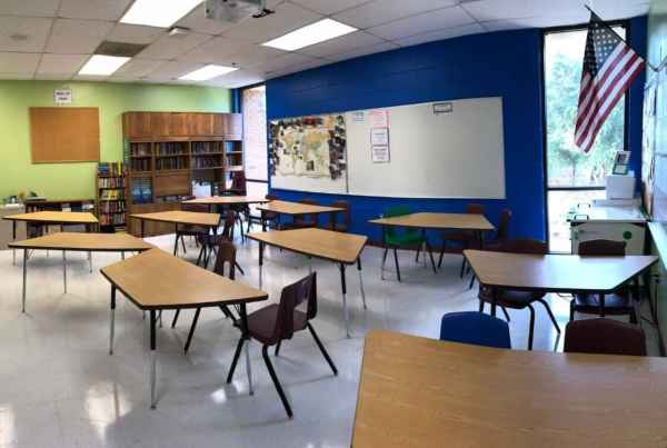 My classroom where I taught middle school and high school English