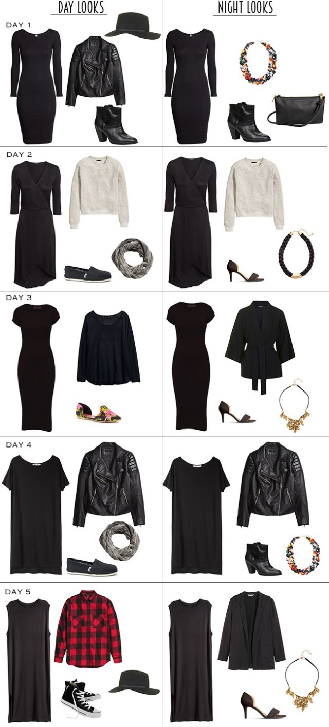 5 Black Dresses Outfits Day to Night