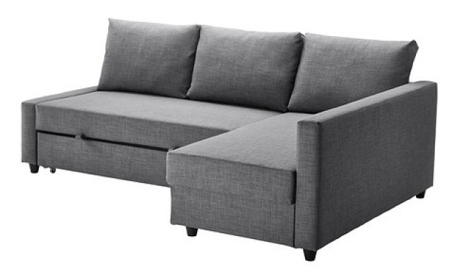 frighten sofa bed with chaise Ikea