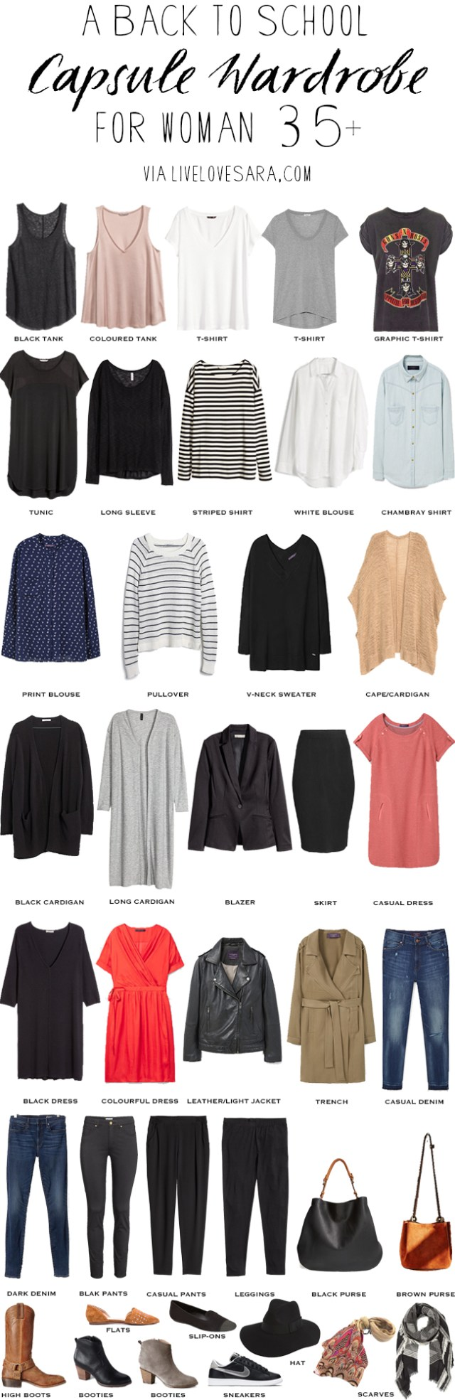 Back to School wardrobe over 35 #capsule #capsulewardrobe #overthirty #backtoschool #backtoschoolwardrobe