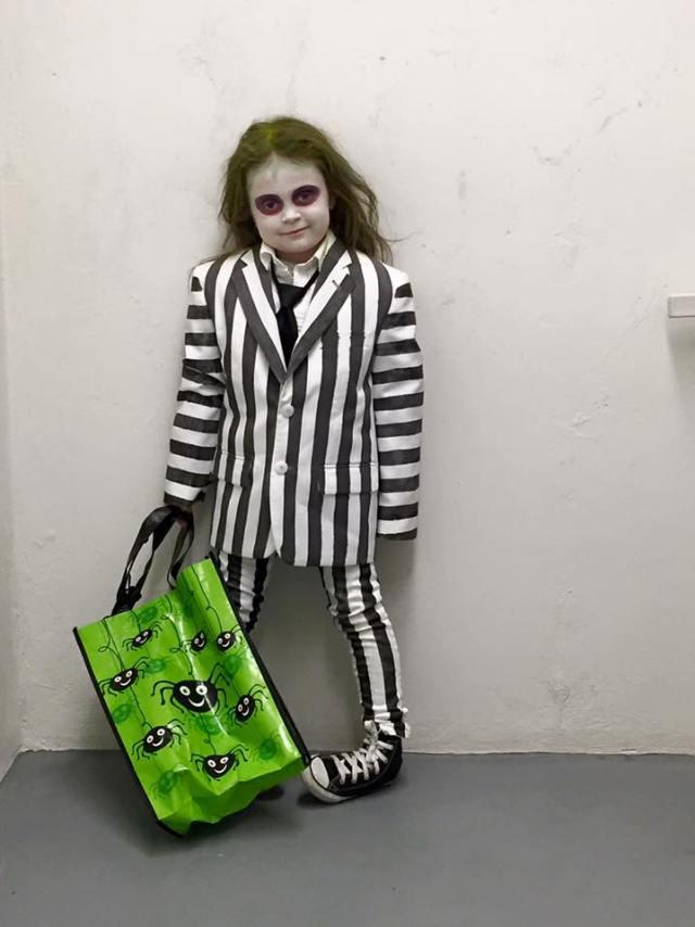 Kids Beetlejuice Costume Halloween DIY