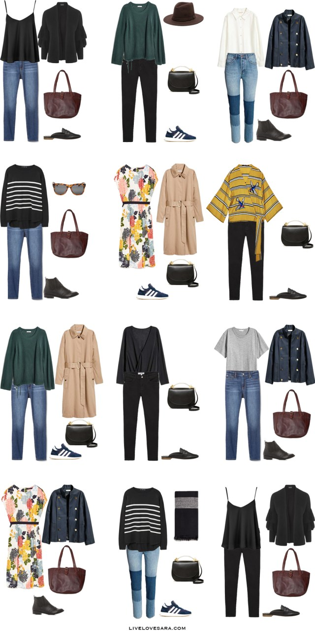 What to Wear in Cornwall England Outfit Options 13-24 Packing Light List #packinglist #packinglight #travellight #travel #livelovesara