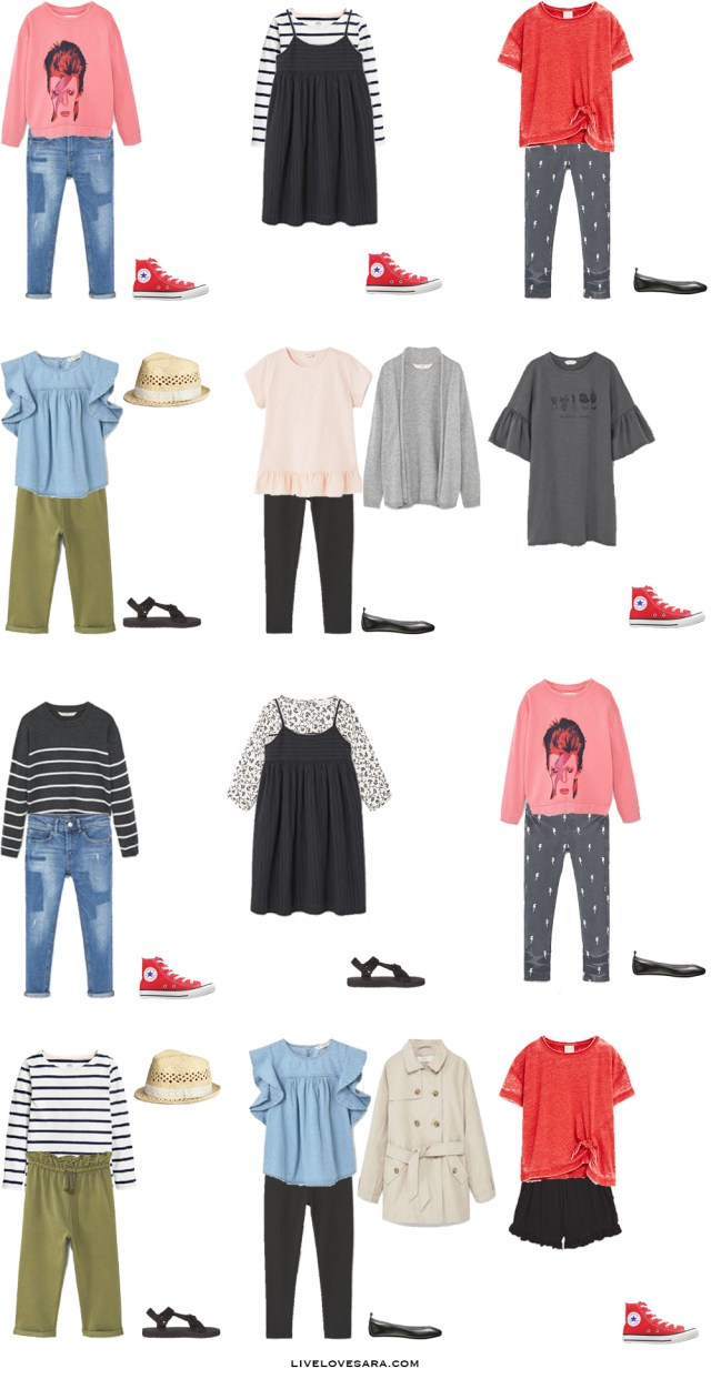 What to Pack for Stockholm Sweden Kids Edition Girls Outfit Options 1-12 Packing Light List #packinglist #packinglight #travellight #travel #livelovesara
