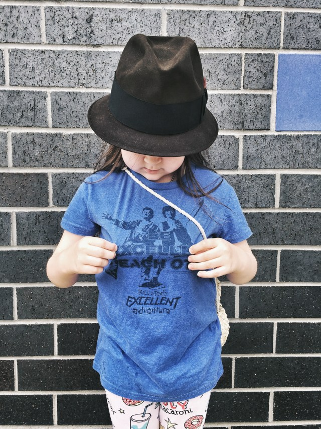 Bill and Ted T-shirt and fedora