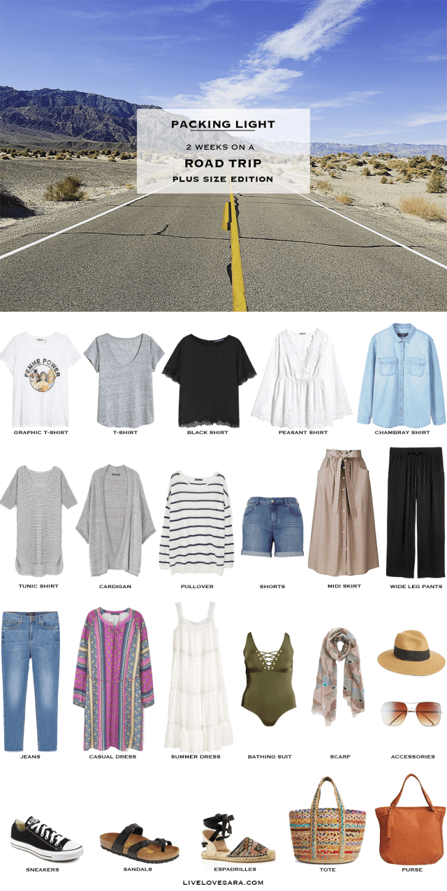 what to pack for a road trip - plus size | livelovesara