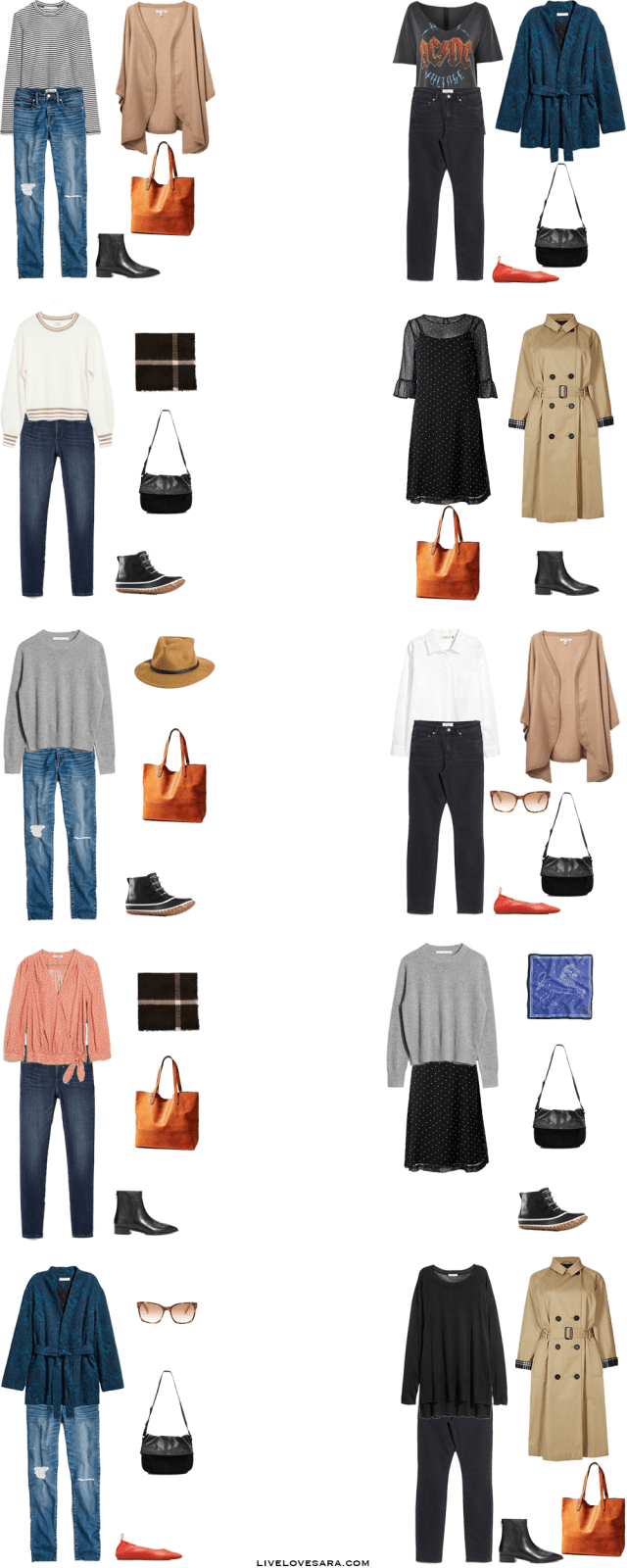What to Pack for 14 Days in Cardiff, Wales Packing Light List Outfit Options 1-10