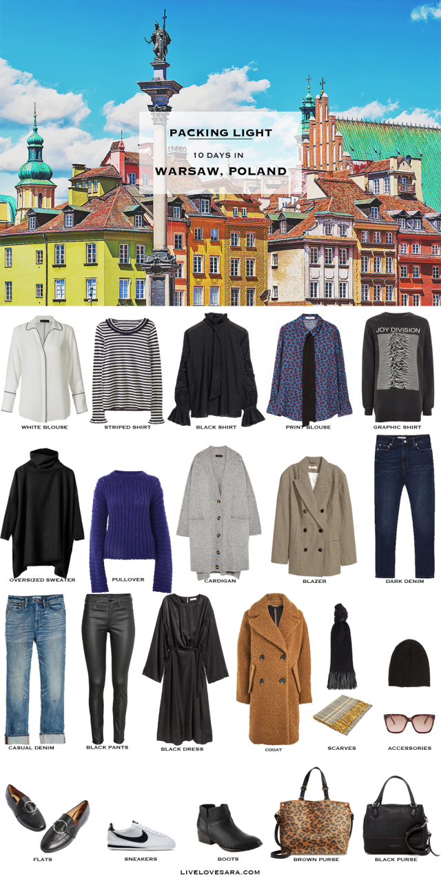 What to Pack for Warsaw Poland Packing Light List
