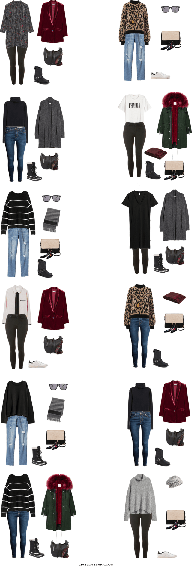 What to Pack for the Vienna, Austria Packing Light List Outfit Options 13-24#packinglist #packinglight #travellight #travel #capsule #capsulewardrobe #livelovesara