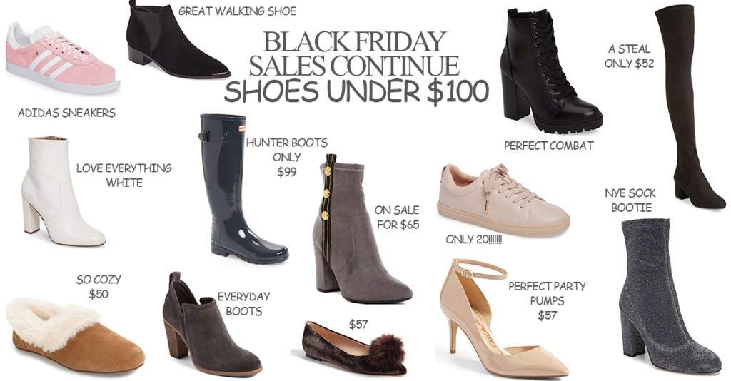 Black Friday Continues- Shoes under $100