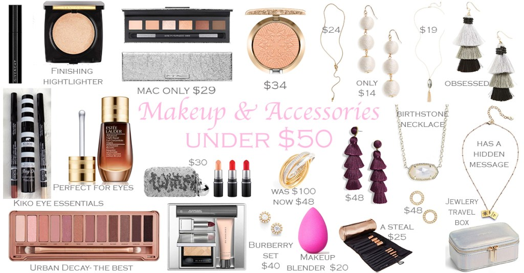 Makeup and Accessories under $50