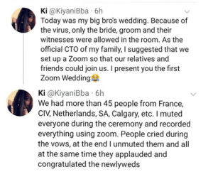 Covid-19 Lockdown:Couple Holds Wedding Online With Over 45 People