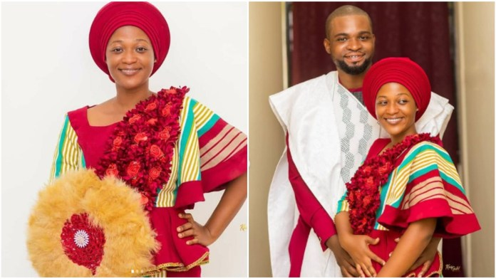 Ghanaian Bride weds without makeup and accesories yet looks amazing (photos)