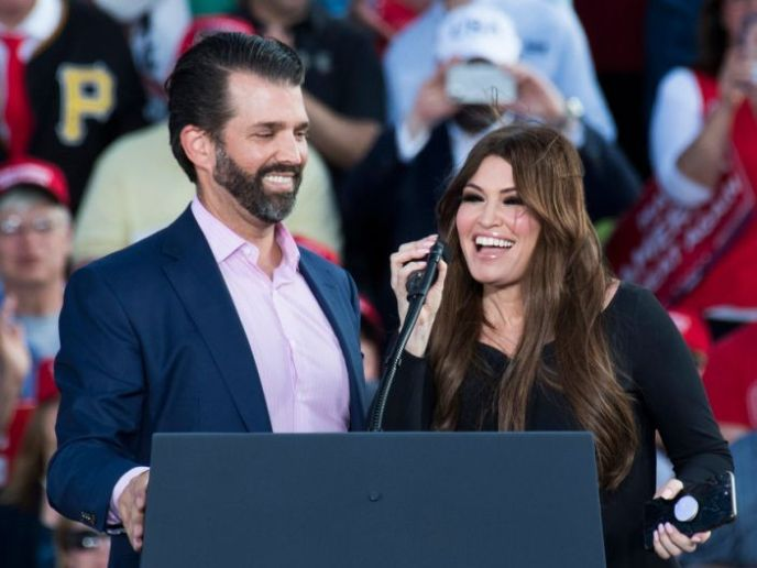 Donald Trump Jr. and Kimberly Guilfoyle have been called 'the prom king and queen of MAGA land.' Here's a timeline of their relationship.