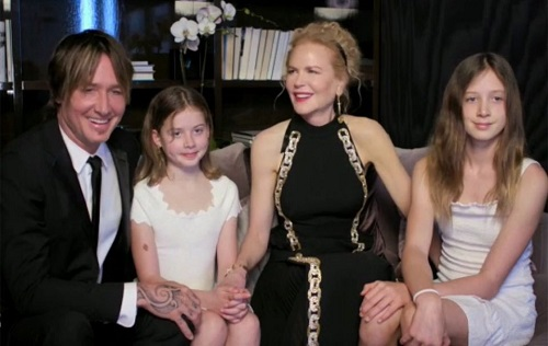 Nicole Kidman Makes Rare Appearance With Keith Urban and Their Kids at the Golden Globes
