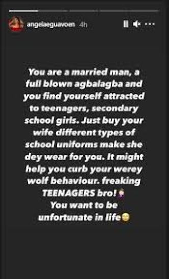 Actress Angela Eguavoen Has Advise For Married Man Who Find Themselves Attracted To Teenagers