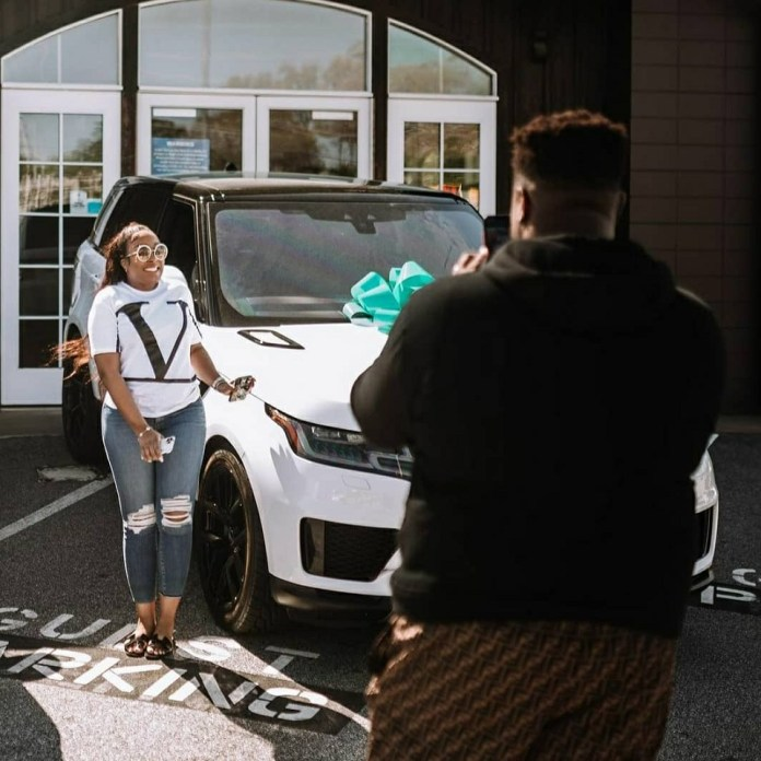 Davido's Brother, Adewale Gifts His Wife, Kani, A Range Rover (Photos/Video)