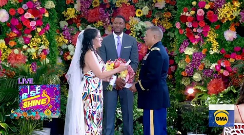 Couple Who Delayed Wedding Twice Marries in GMA Dream Ceremony — and Michael Strahan Officiates!
