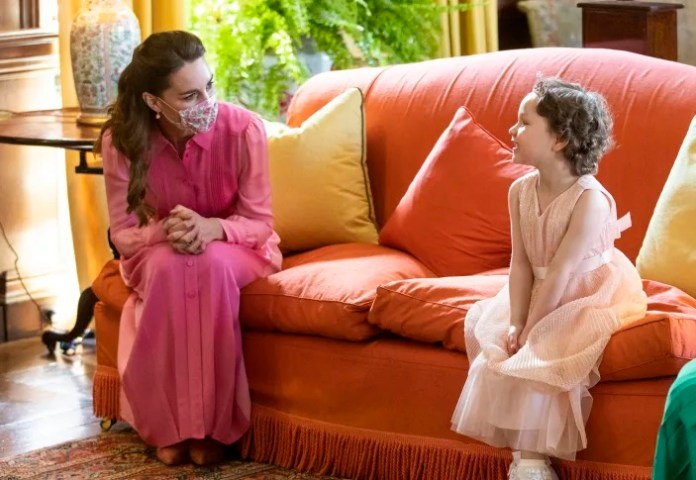 Duchess Kate makes a little girl's pink princess wish come true