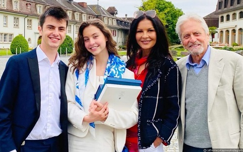 Proud parents Michael Douglas, Catherine Zeta-Jones celebrate daughter's graduation