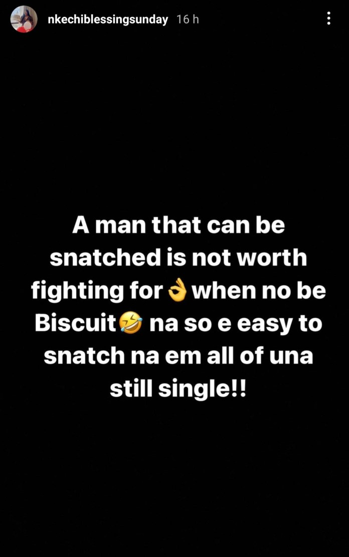 ''A man that can be snatched is not worth fighting for''- actress Nkechi Blessing Sunday